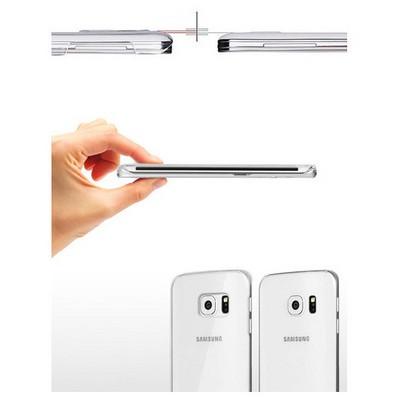 Microsonic Kristal Şeffaf Samsung Galaxy S6 Edge Kılıf Cep Telefonu Kılıfı