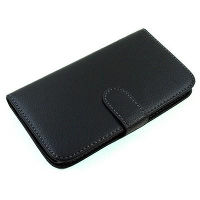Microsonic Cüzdanlı Deri Kılıf - General Mobile Discovery - Siyah Cep Telefonu Kılıfı