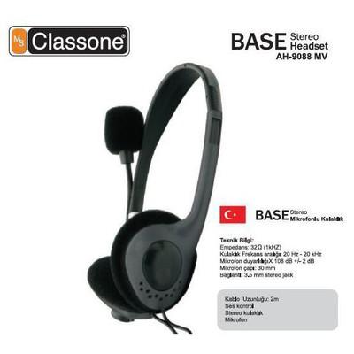 Classone AH-9088MV Base Kafa Bantlı Kulaklık - Siyah