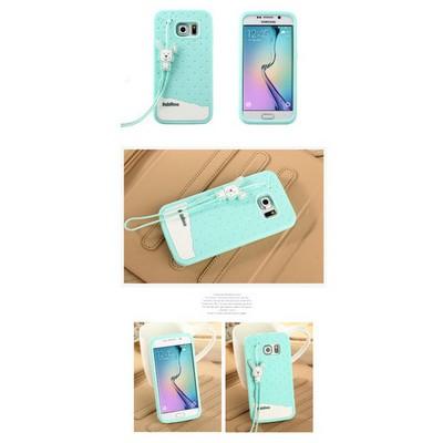 Microsonic Fabitoo Samsung Galaxy S6 Edge Candy Kılıf Turkuaz Cep Telefonu Kılıfı