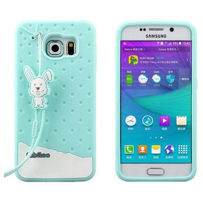 Microsonic Fabitoo Samsung Galaxy S6 Candy Kılıf Turkuaz Cep Telefonu Kılıfı