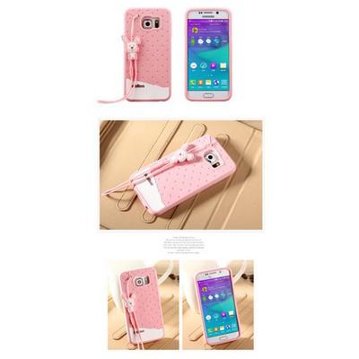 Microsonic Fabitoo Samsung Galaxy S6 Candy Kılıf Pembe Cep Telefonu Kılıfı