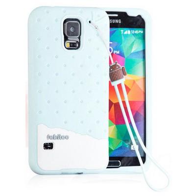 Microsonic Fabitoo Samsung Galaxy S5 Candy Kılıf Turkuaz Cep Telefonu Kılıfı