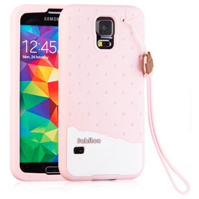 Microsonic Fabitoo Samsung Galaxy S5 Candy Kılıf Pembe Cep Telefonu Kılıfı