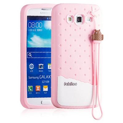 Microsonic Fabitoo Samsung Galaxy Grand 2 Candy Kılıf Pembe Cep Telefonu Kılıfı