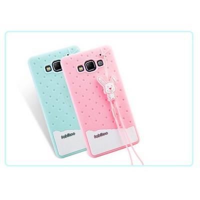 Microsonic Fabitoo Samsung Galaxy A7 Candy Kılıf Turkuaz Cep Telefonu Kılıfı