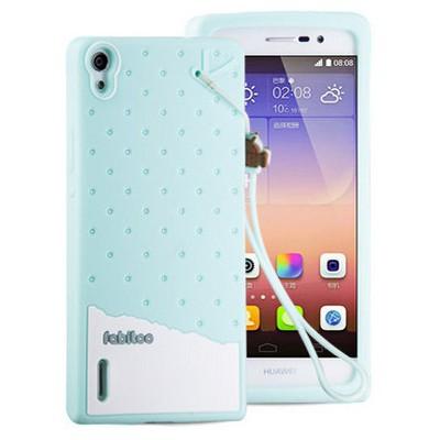 Microsonic Fabitoo Huawei P7 Candy Kılıf Turkuaz Cep Telefonu Kılıfı