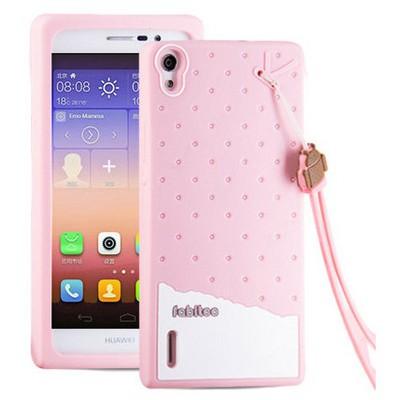 Microsonic Fabitoo Huawei P7 Candy Kılıf Pembe Cep Telefonu Kılıfı