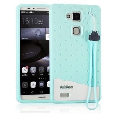 Microsonic Fabitoo Huawei Mate 7 Candy Kılıf Turkuaz Cep Telefonu Kılıfı