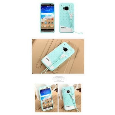 Microsonic Fabitoo Htc One M9 Candy Kılıf Turkuaz Cep Telefonu Kılıfı