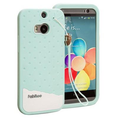 Microsonic Fabitoo Htc One M8 Candy Kılıf Turkuaz Cep Telefonu Kılıfı