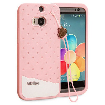 Microsonic Fabitoo Htc One M8 Candy Kılıf Pembe Cep Telefonu Kılıfı