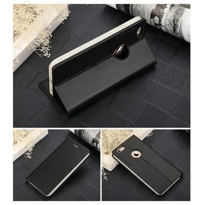 Microsonic Totu Design Book Series Iphone 6 Side Leather Standlı Kılıf Siyah Cep Telefonu Kılıfı