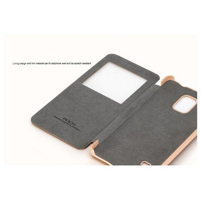Microsonic Rock Uni Samsung Galaxy Note 4 Quick View Smart Leather Kılıf Beyaz Cep Telefonu Kılıfı