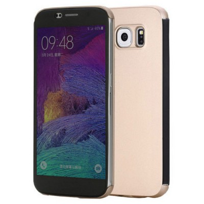 Microsonic Rock Dr.v Samsung Galaxy S6 Invisible Smart Uı Transparent Kılıf Gold Cep Telefonu Kılıfı