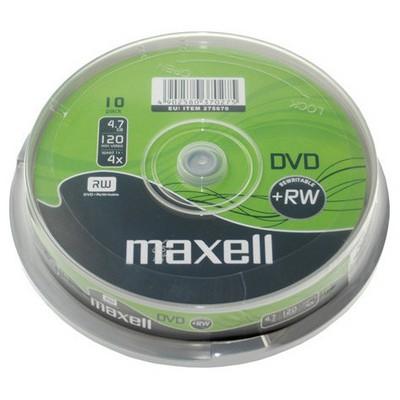 Maxell Dvd+rw 4.7gb 4x 10lu Cakebox - 275670.03.tw CD/DVD