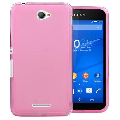Microsonic Transparent Soft Sony Xperia E4g 4.7'' Kılıf Pembe Cep Telefonu Kılıfı