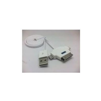 Inova Invusb15 Iphone 4 - 5- 6, Ipad, Samsung Uyumlu Mıcro Usb Üçlü Usb Şarj Kablosu Dönüştürücü Kablo