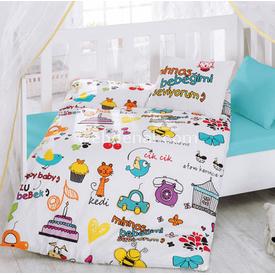 Cotton Box Coton Box 2000 Bebek  100x150 Mutlu Bebek Nevresim Takımı