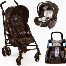 Chicco Lite Way Plus Bazalı Bebek Arabası Siyah Travel Sistem Bebek Arabası