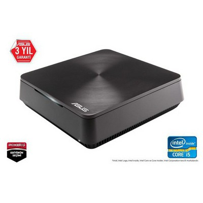 Asus Mını Pc Vm62-g046m I5-4210u 4g 500g 3.5 Inc Dos Grı 3yıl Hdmı-dp-vga-ac Wıfı-bt-speaker-vesa (kbm Yok) Mini PC