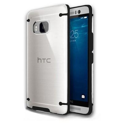 Microsonic Hybrid Transparant Htc One M9 Kılıf Siyah Cep Telefonu Kılıfı