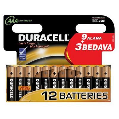 Duracell Aaa Ince Kalem 0 (9+3) Pil / Şarj Cihazı