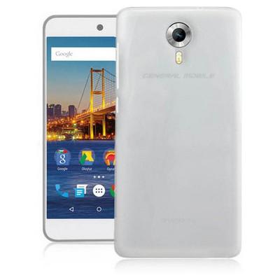 Microsonic Glossy Soft General Mobile Android One 4g Kılıf Beyaz Cep Telefonu Kılıfı
