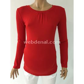 Trndy Trendy Uzun Kol Hamile Badi Kırmızı M Atlet & Body