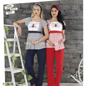Haluk Baha Lohusa Pijama Takım Kırmızı L Gecelik & Pijama