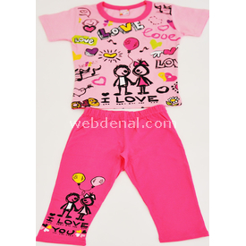 Roly Poly 1560 Kız Çocuk Pijama Takımı Pembe-fuşya 1 Yaş (86 Cm) Kız Bebek Pijaması