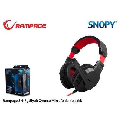 Snopy Sn-r3s Rampage Sn-r3 Oyuncu Siyah Mikrofonlu Kulaklık Kafa Bantlı Kulaklık