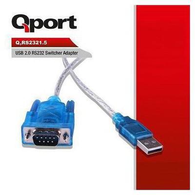 Qport Q-rs2321_5 Qport Q-rs2321.5 Usb 2.0 Dan Rs232 Portuna Ve Parelel Porta 1.5 Metre Yazıcı Kabloları