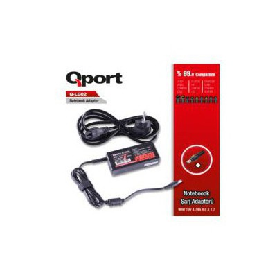 Qport Qs-lg02 Qport Qs-lg02 Lg-90w 19v 4.74a 4.8*1.7 Lg Notebook Standart Adaptor Laptop Şarj Aleti