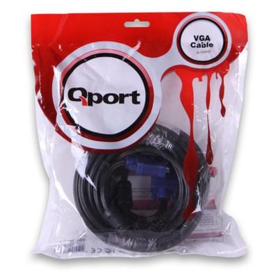 Qport Q-vga10 Qport Q-vga10 15 Pin Fitreli 10 Metre Erkek Erkek Monitör 0 VGA Kablolar