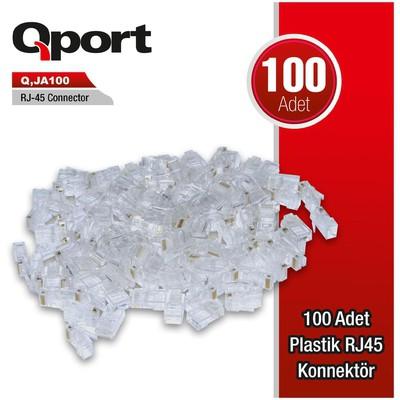 Qport Q-ja100 Qport Q-ja100 Cat6 100 Lük Rj-45 Jack Network Kablosu