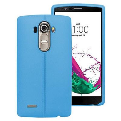 Microsonic Line Style Silikon Lg G4 Kılıf Mavi Cep Telefonu Kılıfı