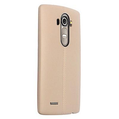 Microsonic Line Style Silikon Lg G4 Kılıf Gold Cep Telefonu Kılıfı
