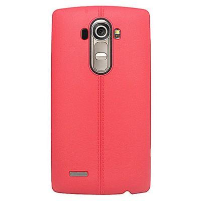 Microsonic Line Style Silikon Lg G4 Kılıf Kırmızı Cep Telefonu Kılıfı