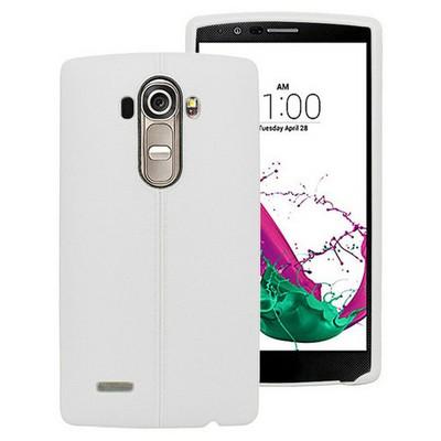 Microsonic Line Style Silikon Lg G4 Kılıf Beyaz Cep Telefonu Kılıfı