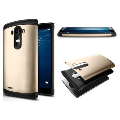 Microsonic Lg G4 Kılıf Slim Fit Dual Layer Armor Gold Cep Telefonu Kılıfı