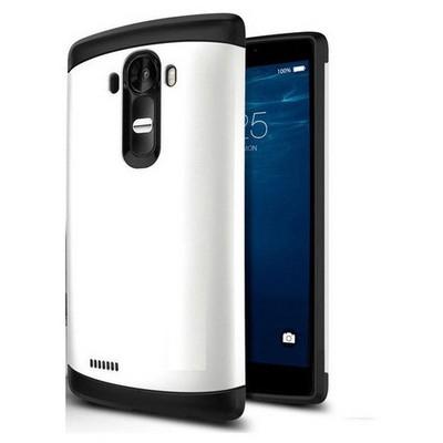 Microsonic Lg G4 Kılıf Slim Fit Dual Layer Armor Beyaz Cep Telefonu Kılıfı