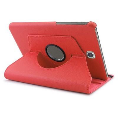 Microsonic 360 Rotating Stand Deri Samsung Galaxy Tab A 8.0'' T350 Kılıf Kırmızı Tablet Kılıfı