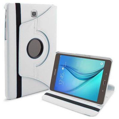Microsonic 360 Rotating Stand Deri Samsung Galaxy Tab A 8.0'' T350 Kılıf Beyaz Tablet Kılıfı