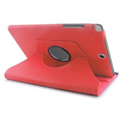 Microsonic 360 Rotating Stand Deri Samsung Galaxy Tab A 9.7'' T550 Kılıf Kırmızı Tablet Kılıfı
