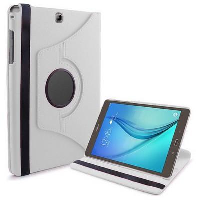Microsonic 360 Rotating Stand Deri Samsung Galaxy Tab A 9.7'' T550 Kılıf Beyaz Tablet Kılıfı
