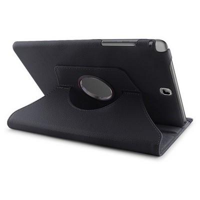 Microsonic 360 Rotating Stand Deri Samsung Galaxy Tab A 9.7'' T550 Kılıf Siyah Tablet Kılıfı