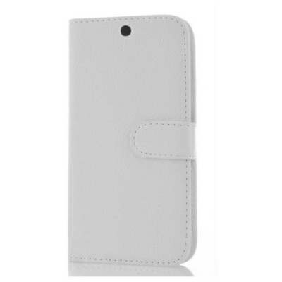 Microsonic General Mobile Android One 4g Cüzdanlı Deri Kılıf Beyaz Cep Telefonu Kılıfı