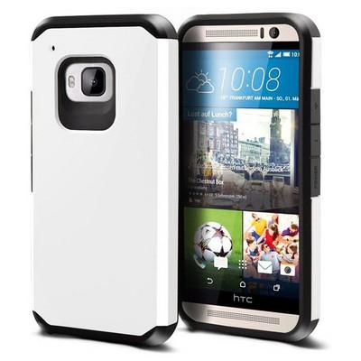 Microsonic Slim Fit Dual Layer Armor Htc One M9 Kılıf Beyaz Cep Telefonu Kılıfı