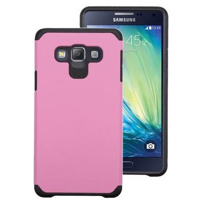 Microsonic Samsung Galaxy E7 Kılıf Slim Fit Dual Layer Armor Pembe Cep Telefonu Kılıfı
